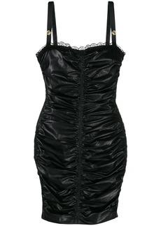 Versace wet-look mini dress