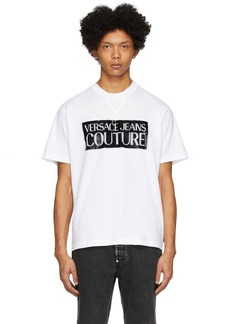 Versace White & Black Pop Box Logo T-Shirt