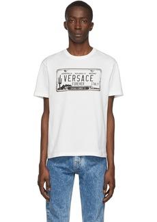 Versace White License Plate T-Shirt