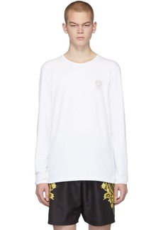 Versace White Logo Long Sleeve T-Shirt