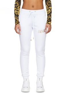 Versace White Logo Lounge Pants