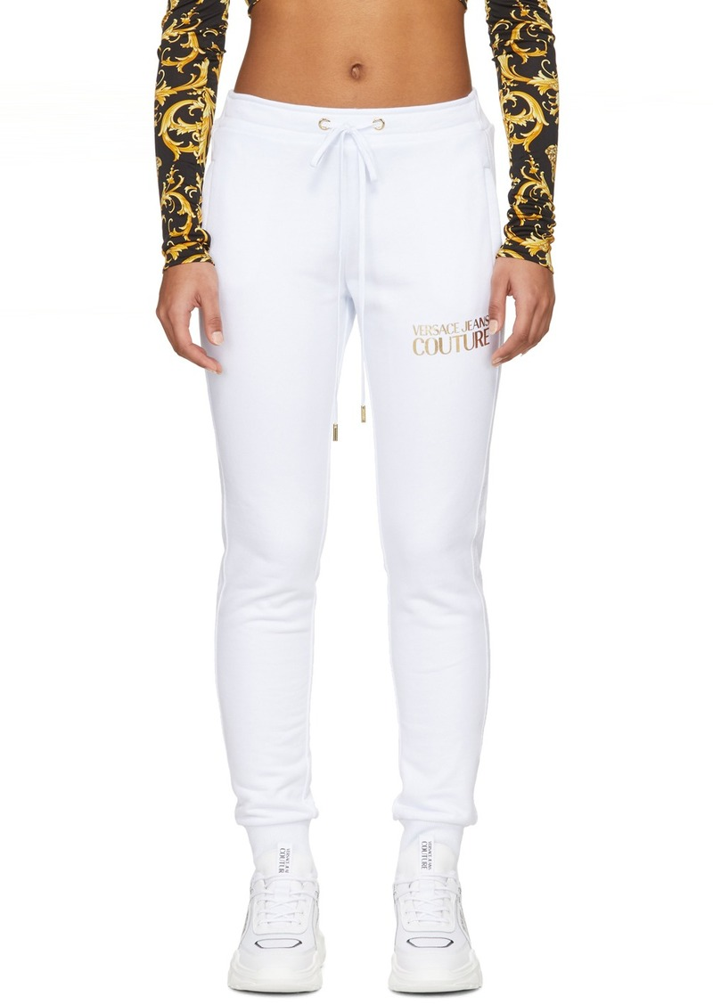 Versace White Logo Lounge Pants