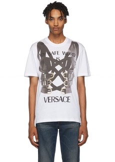 Versace White 'My Safe Word Is' T-Shirt
