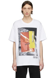 Versace White Rosa Burgess Edition 'Crisis' Print T-Shirt