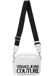 Versace White Shiny Logo Camera Bag