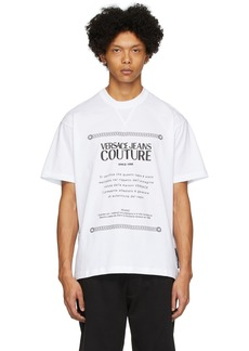 Versace White Warranty Label T-Shirt