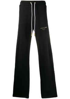 Versace wide-leg embellished panel track pants