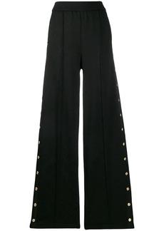 Versace wide raised seam trousers