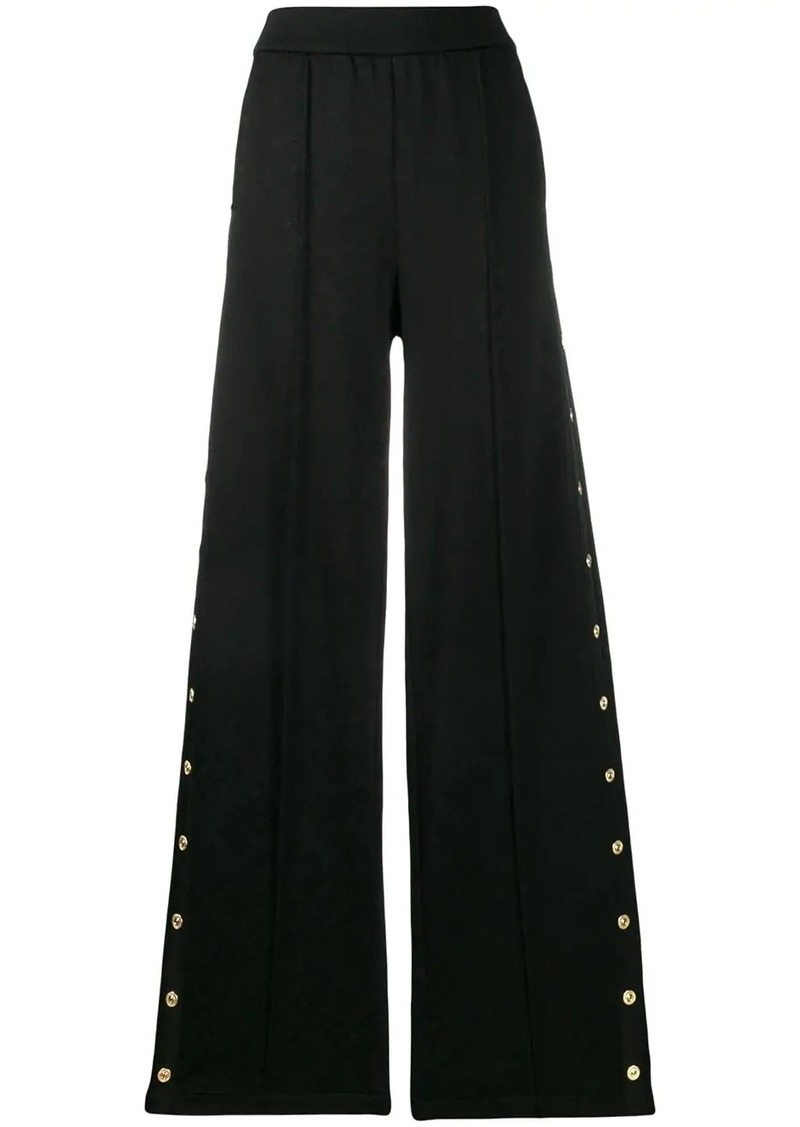 Versace wide raised seam trousers