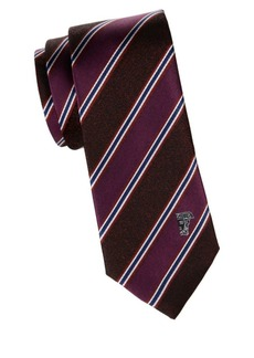 Versace Wide Stripe Silk Tie