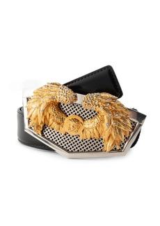 Versace Wing Medusa Leather Belt