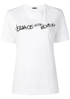 Versace 'With Love' print T-shirt