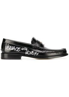 Versace 'With Love' side stamp loafers