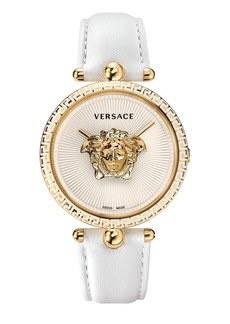 Versace Women's Palazzo Empire Leather Strap Watch, 39mm