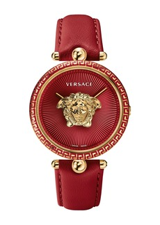 Versace Women's Palazzo Empire Red Leather Watch, 39mm