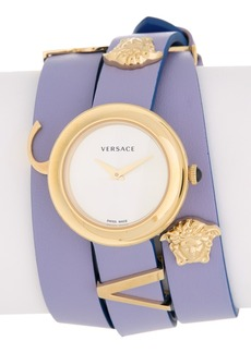 Versace Women's V-Flare Wrap Leather Strap Watch, 28mm