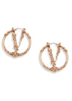 Women's Versace Virtus Hoop Earrings