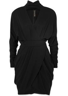 Versace Wrap-effect Crepe Mini Dress
