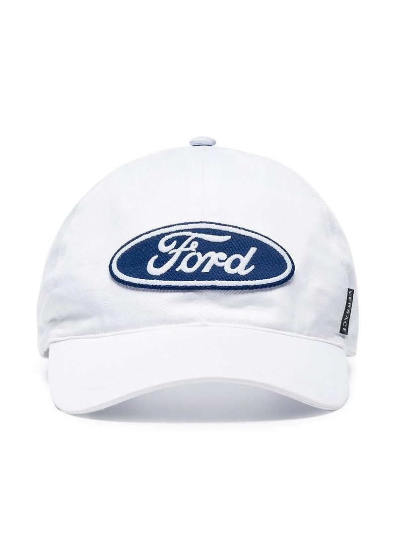Versace X Ford logo print baseball cap