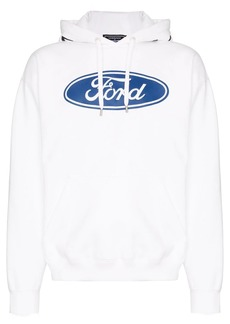 Versace X Ford logo print hoodie