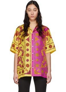 Versace Yellow & Pink Barocco Western Shirt