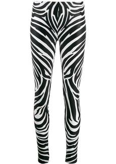 Versace zebra print leggings