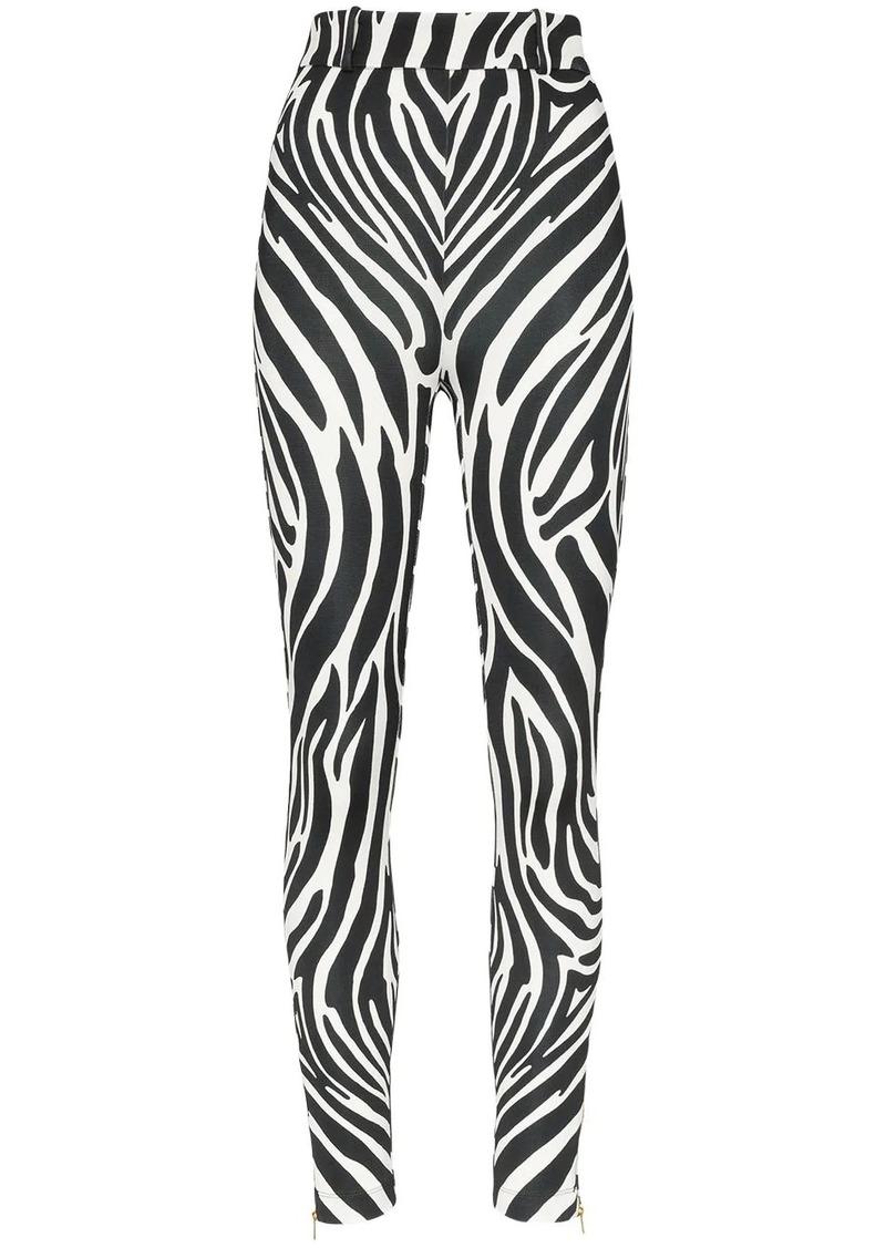 Versace zebra print trousers