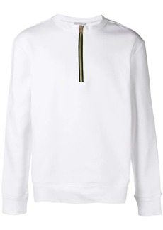 Versace zipped collar sweatshirt
