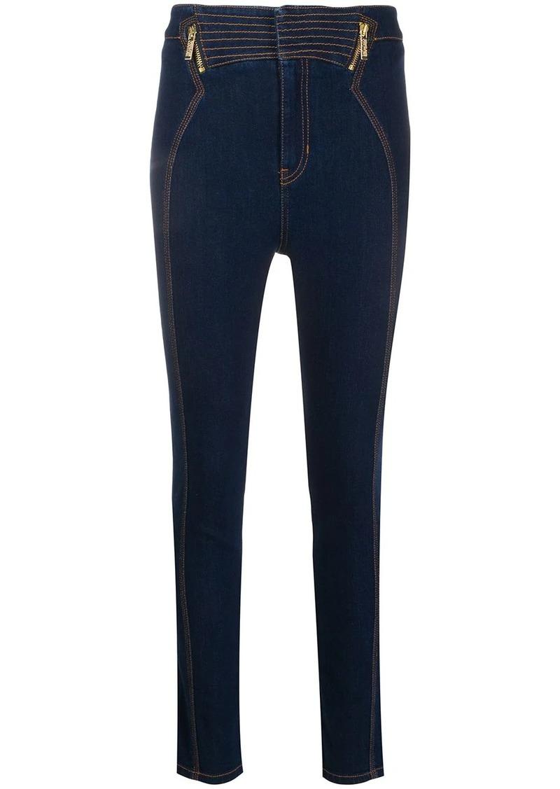 Versace zipped yoke skinny jeans