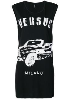 Versus car logo print tank dress