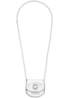 Versus coin bag necklace