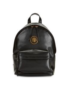 Versus Embellished Logo Leather Backpack