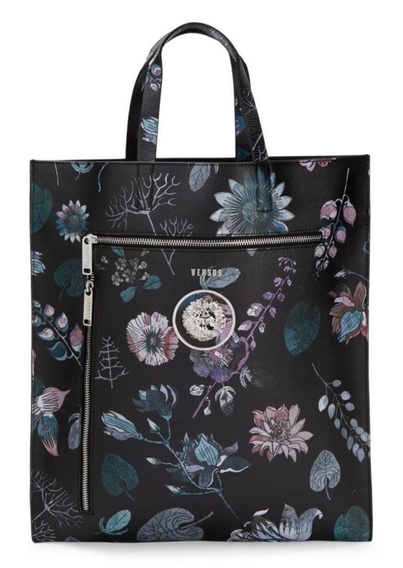 Versus Floral-Print Leather Tote