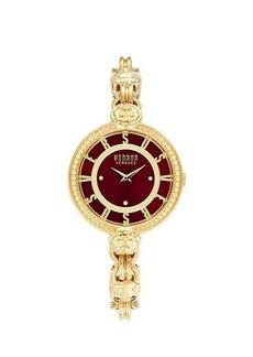 Versus Goldtone Stainless Steel & Swarovski Crystal Bracelet Watch