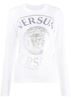 Versus holographic logo sweatshirt