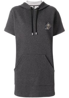 Versus logo patch hooded dress