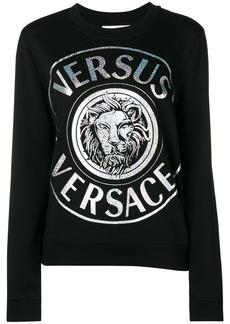 Versus metallic logo-print sweatshirt