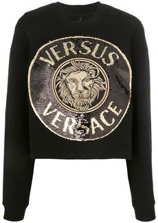 Versus sequin-embellished medallion sweatshirt