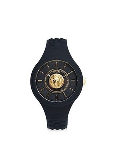 Versus Stainless Steel & Silicone-Strap Watch