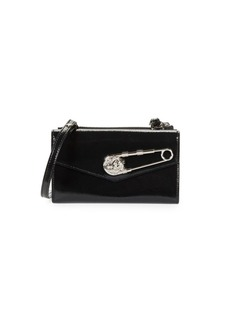 Versus Tri-Fold Patent Leather Wallet-On-Chain