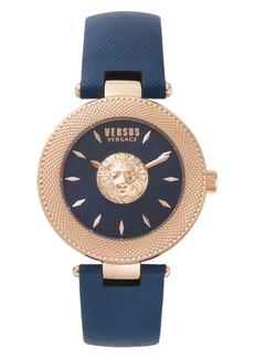 VERSUS Versace Brick Lane Leather Strap Watch, 40mm