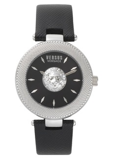 VERSUS by Versace Brick Lane Leather Strap Watch, 40mm