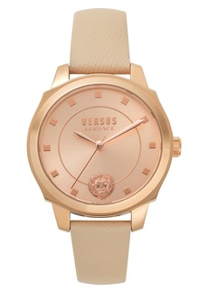 VERSUS Versace Chelsea Leather Strap Watch, 34mm