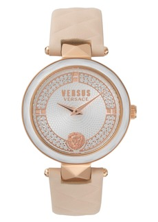VERSUS by Versace Covent Garden Leather Strap Watch