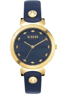 Versus by Versace Women's Marion Blue Leather Strap Watch 36mm