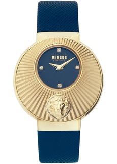 Versus by Versace Women's Sempione Blue Leather Strap Watch 38mm