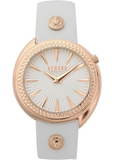 Versus by Versace Women's Tortona White Leather Strap Watch 38mm