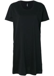 Versus logo T-shirt dress - Black