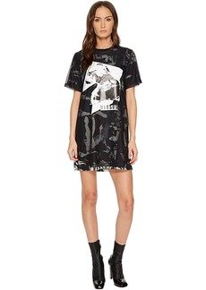 Versus Versace Abito Donna Jersey Stampato T-Shirt Dress