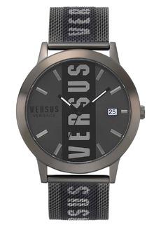 VERSUS Versace Barbes Logo Mesh Watch, 44mm